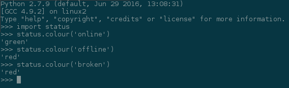 Importing and testing the library in Python